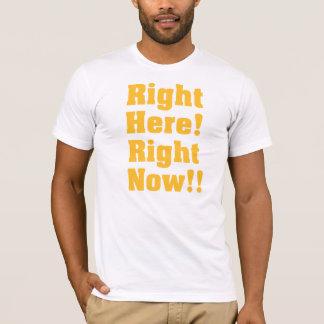 正しくここに! 今!! オレンジ Tシャツ