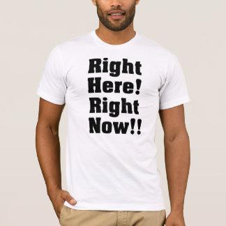 正しくここに! 今!! 黒 Tシャツ