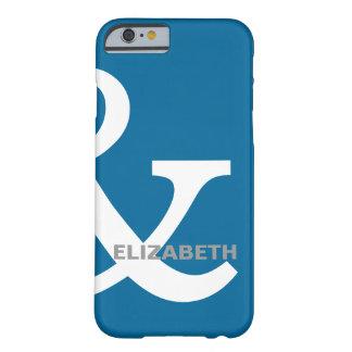正しく一致する青く白いアンパーサンドの恋人の名前 BARELY THERE iPhone 6 ケース