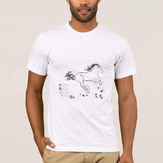 正しく疾走している馬(bw) [ワイシャツ] tシャツ