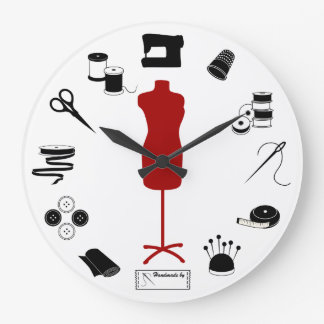 正しく縫って下さい ラージ壁時計