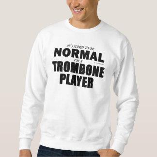 正常なトロンボーンプレーヤー スウェットシャツ