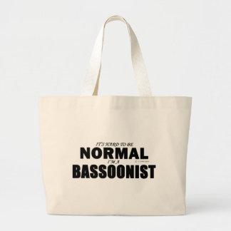 正常なバスーン奏者 ラージトートバッグ