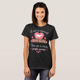 正常なヤギの女性は熱狂するな人々のTシャツです Tシャツ