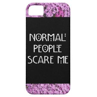 正常な人々は私をIphone 5/5Sの例おびえさせます iPhone SE/5/5s ケース