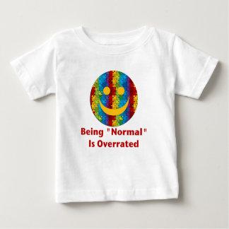 正常な大げさ(自閉症のスマイル) ベビーTシャツ