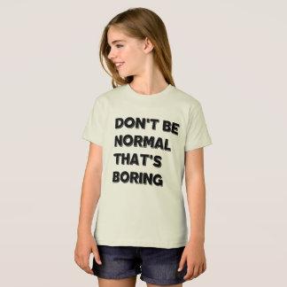 正常な女の子のアメリカの服装のTシャツがあないで下さい Tシャツ