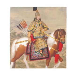正式の装甲の中国のQianlong皇帝の乾隆帝 ノートパッド