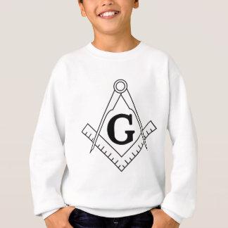 正方形およびコンパスのフリーメーソンの記号 スウェットシャツ
