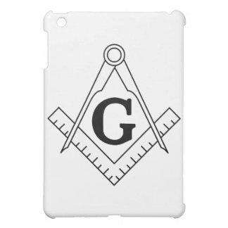 正方形およびコンパスのフリーメーソンの記号 iPad MINIカバー