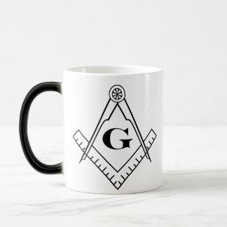 正方形およびコンパスの変形させるマグ マジックマグカップ