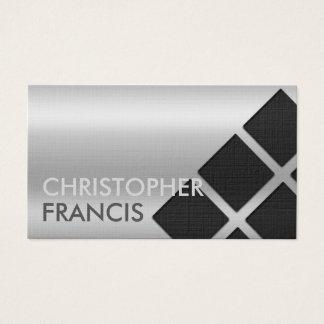 正方形が付いている銀製の反射勾配カード 名刺