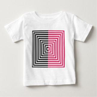 正方形との目の錯覚 ベビーTシャツ