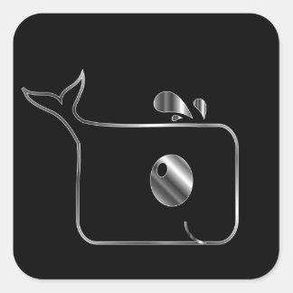 正方形のイルカ スクエアシール