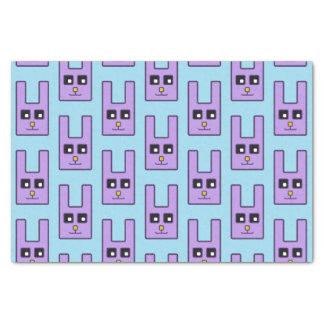 正方形のイースターのウサギのティッシュペーパー 薄葉紙