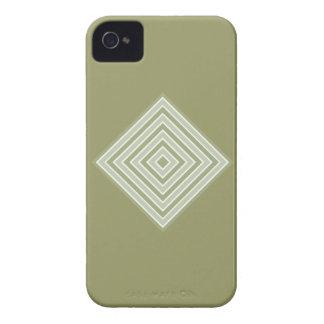 正方形のカスタムなブラックベリーのはっきりしたな箱を着色して下さい Case-Mate iPhone 4 ケース