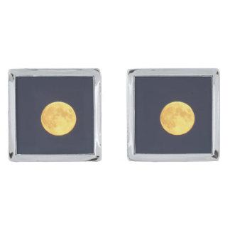 正方形のカフスボタンは、めっきされて銀を着せます シルバー カフスボタン