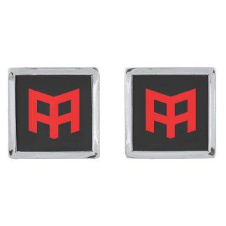 正方形のカフスボタン シルバー カフスボタン