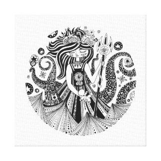 正方形のキャンバスのプリントのジンジャーブレッドの海の魔法使い キャンバスプリント
