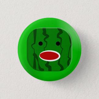 正方形のスイカ 缶バッジ