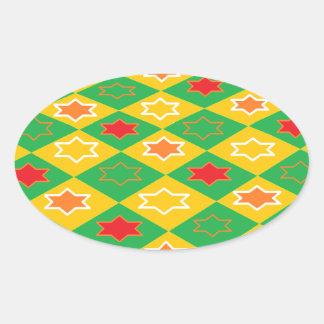 正方形のテーマ 楕円形シール