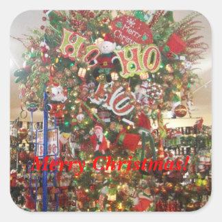 正方形のメリークリスマスのステッカー スクエアシール