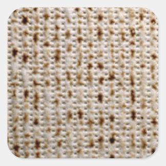 正方形のユダヤ人のマツァのステッカー スクエアシール