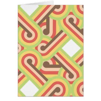 正方形のライン・ループ カード