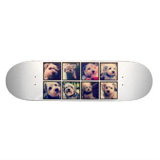 正方形の写真が付いているカスタムな写真のコラージュ スケートボード