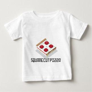 正方形の切口ピザ ベビーTシャツ