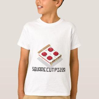 正方形の切口ピザ Tシャツ