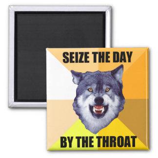 正方形の勇気のオオカミの磁石 マグネット