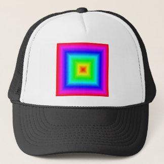 正方形の勾配-虹 キャップ