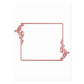正方形の宝石フレームのボーダー: 文字、IMGを加えて下さい ポストカード