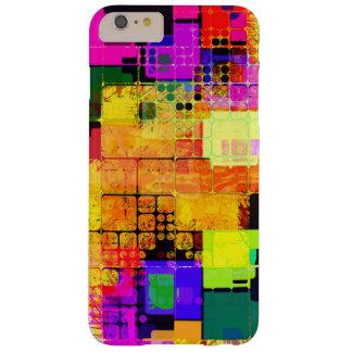 正方形の幾何学的な多彩パターン BARELY THERE iPhone 6 PLUS ケース