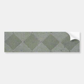 正方形の床タイルの質の背景 バンパーステッカー