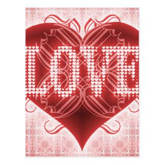 正方形の形の愛カード ポストカード