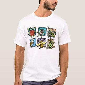 正方形の昆虫 Tシャツ
