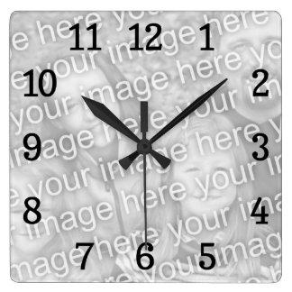 正方形の時計のテンプレート スクエア壁時計