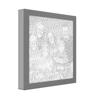 正方形の木炭ボーダー写真 キャンバスプリント