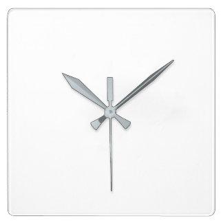 正方形の柱時計-灰色手 スクエア壁時計