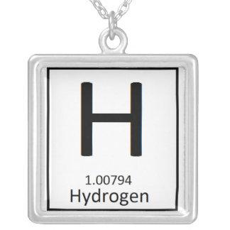 正方形の水素のネックレス シルバープレートネックレス