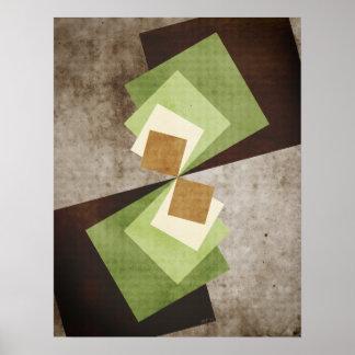 正方形の湾曲 ポスター