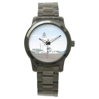 正方形の灯台- 腕時計