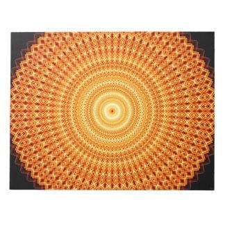 正方形の無限曼荼羅 ノートパッド