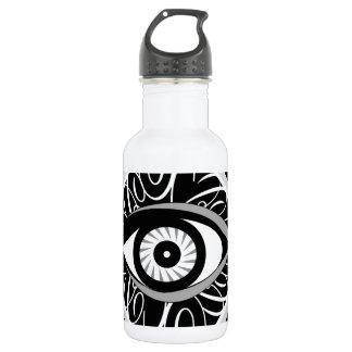 正方形の白黒マジック・アイ ウォーターボトル