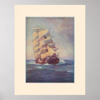 正方形の装備者の船ポスター ポスター