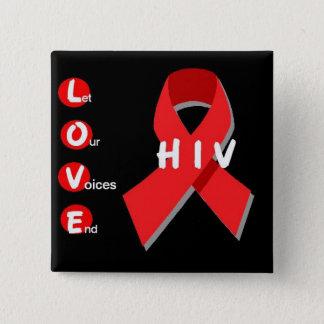 正方形の2インチの黒い愛ボタン 5.1CM 正方形バッジ