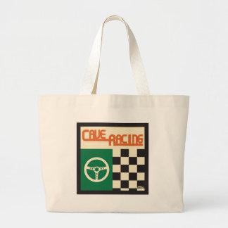 正方形を競争させる洞窟 ラージトートバッグ