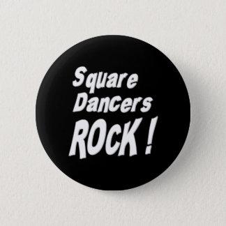 正方形ダンサーの石! ボタン 5.7CM 丸型バッジ